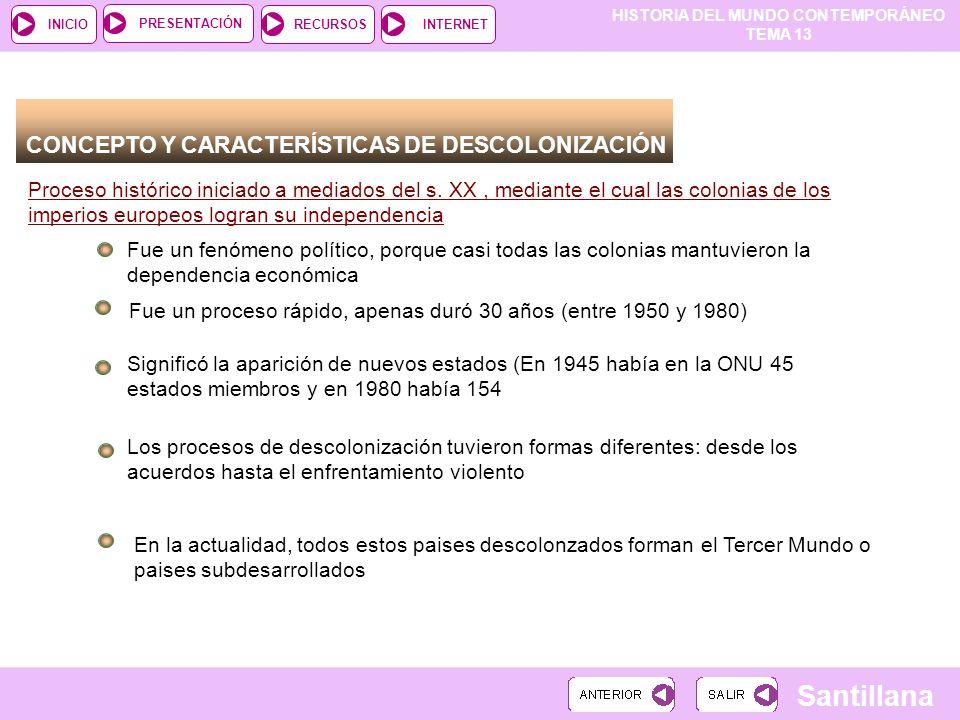CONCEPTO Y CARACTERÍSTICAS DE DESCOLONIZACIÓN