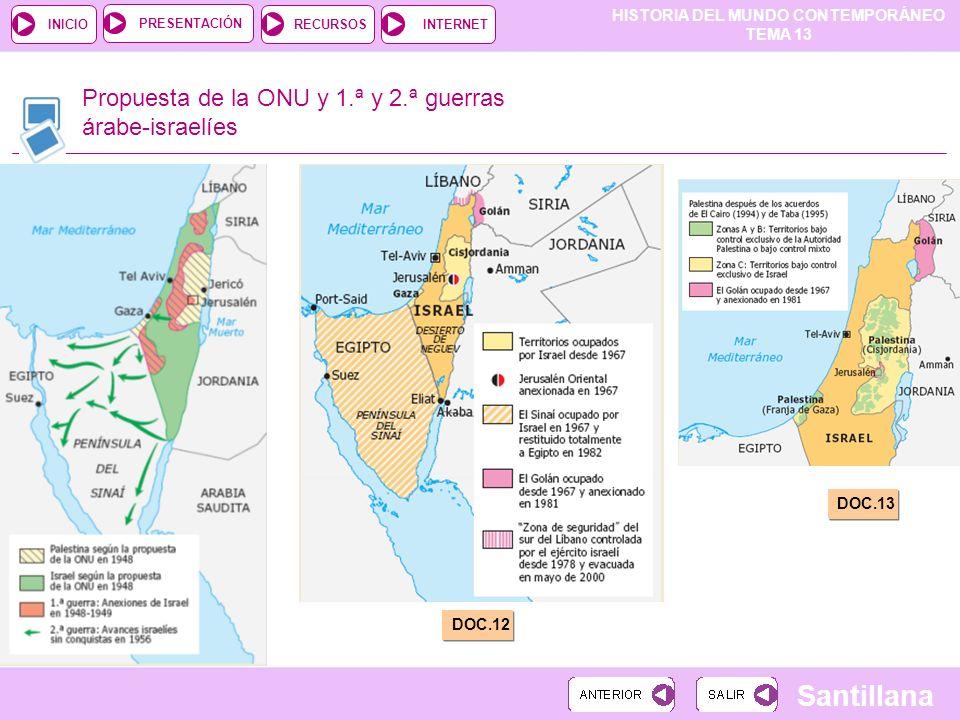 Propuesta de la ONU y 1.ª y 2.ª guerras árabe-israelíes