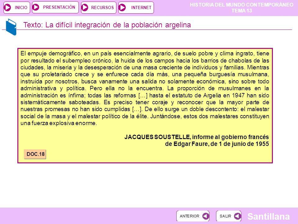 Texto: La difícil integración de la población argelina