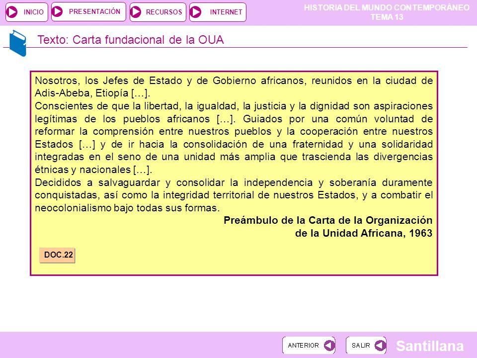 Texto: Carta fundacional de la OUA