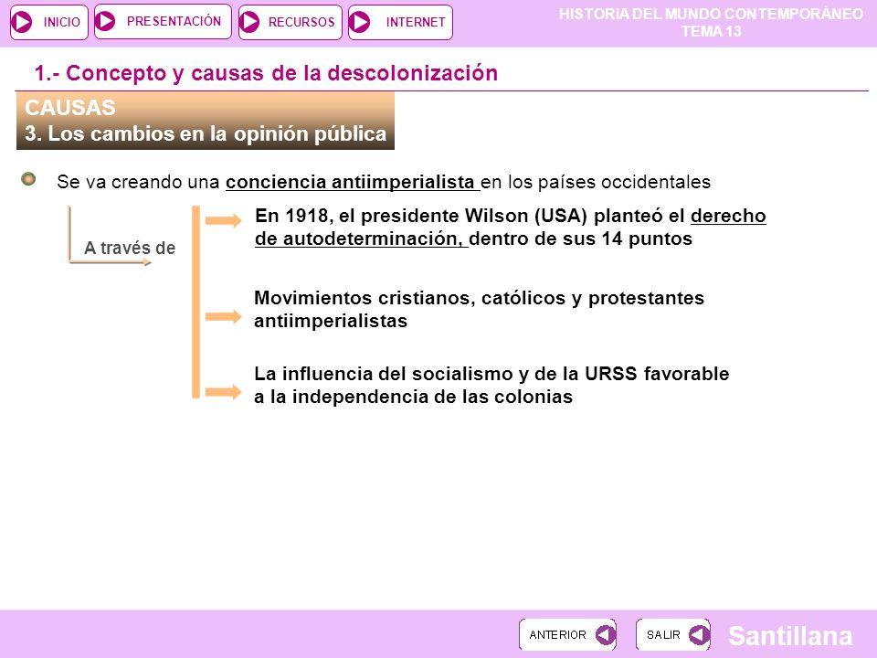 1.- Concepto y causas de la descolonización