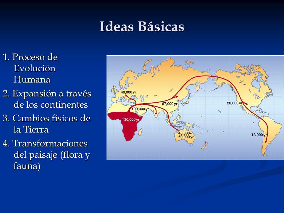 Ideas Básicas 1. Proceso de Evolución Humana