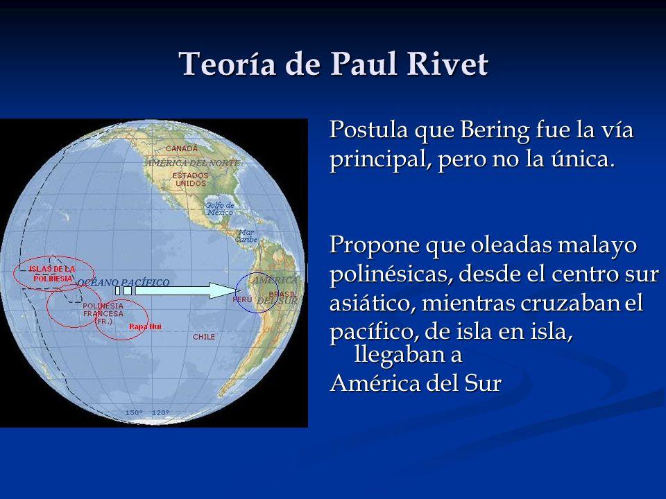 Teoría de Paul Rivet Postula que Bering fue la vía