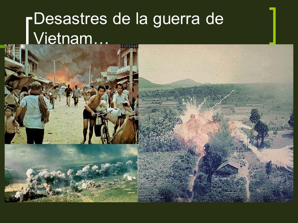 Desastres de la guerra de Vietnam…