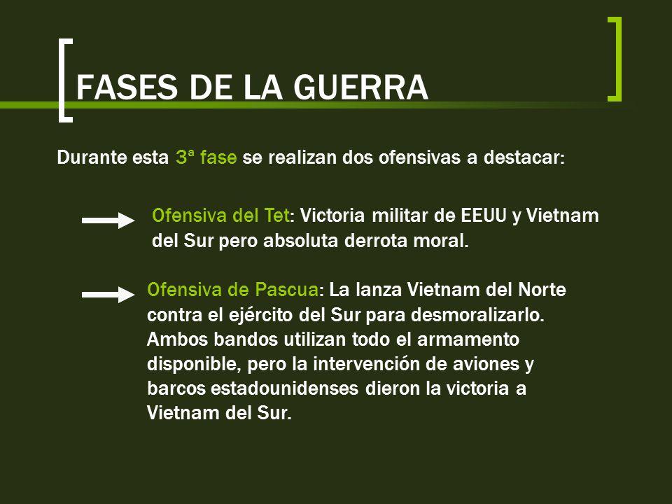 FASES DE LA GUERRADurante esta 3ª fase se realizan dos ofensivas a destacar:
