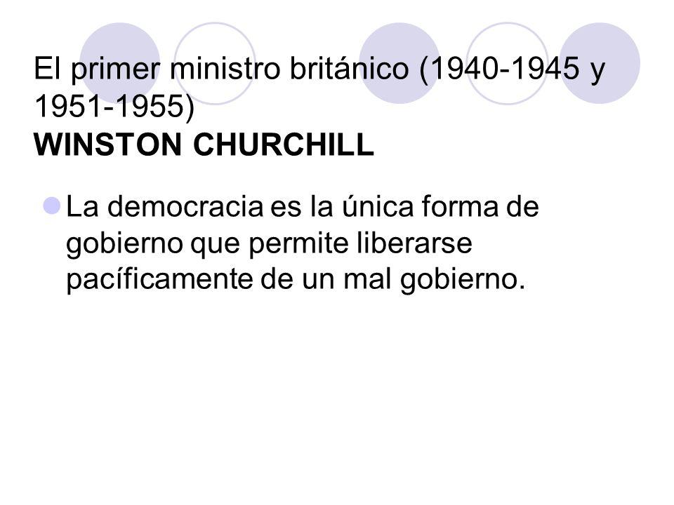 El primer ministro británico (1940-1945 y 1951-1955) WINSTON CHURCHILL