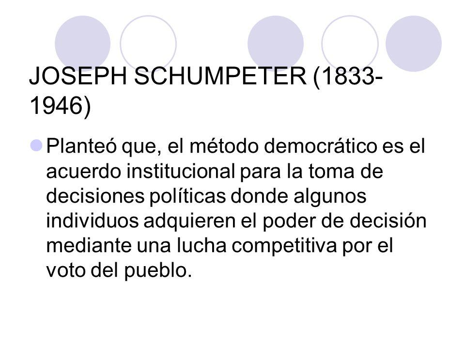 JOSEPH SCHUMPETER (1833-1946)