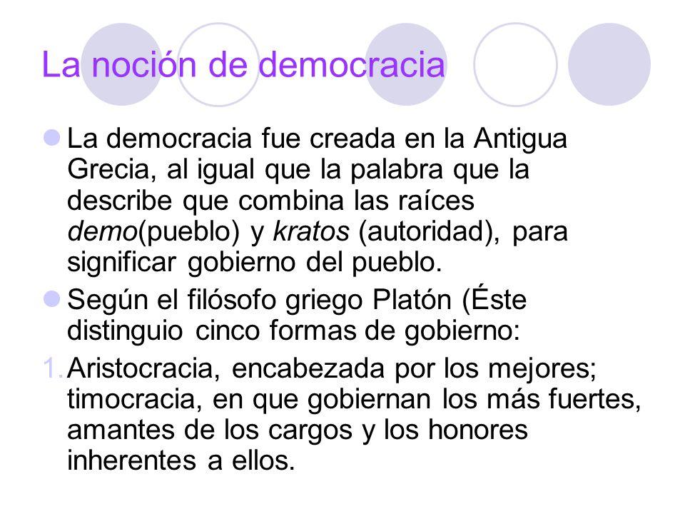 La noción de democracia