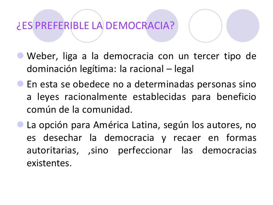 ¿ES PREFERIBLE LA DEMOCRACIA