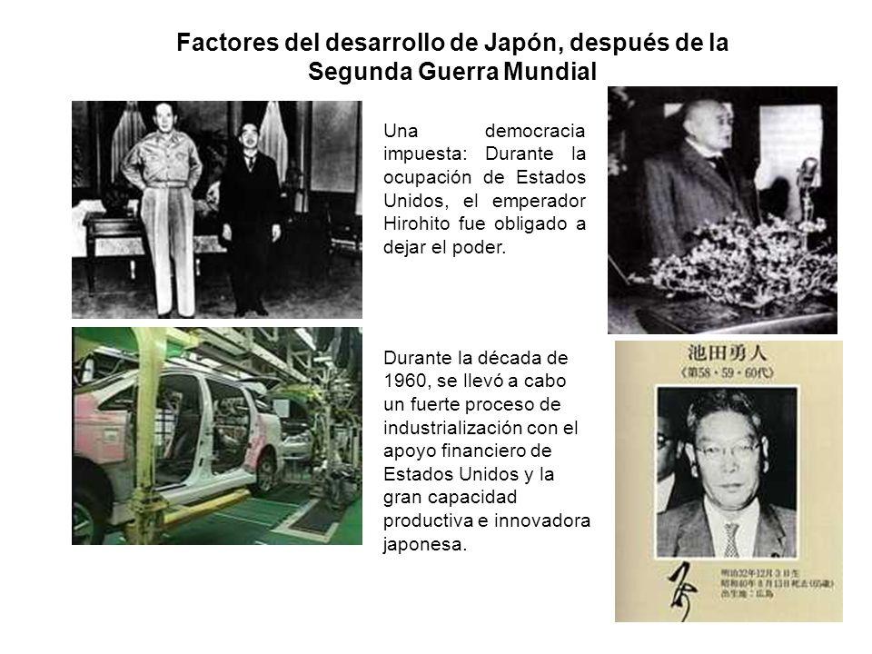 Factores del desarrollo de Japón, después de la Segunda Guerra Mundial