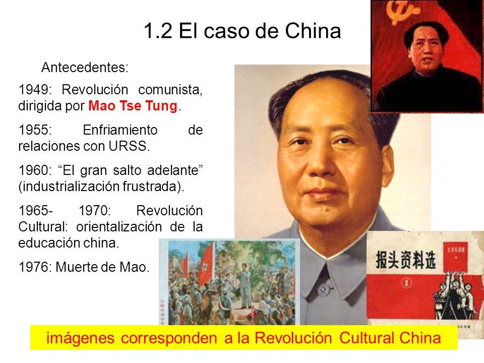 imágenes corresponden a la Revolución Cultural China