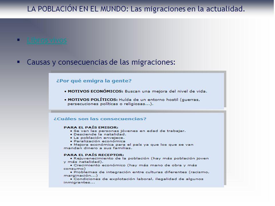 LA POBLACIÓN EN EL MUNDO: Las migraciones en la actualidad.