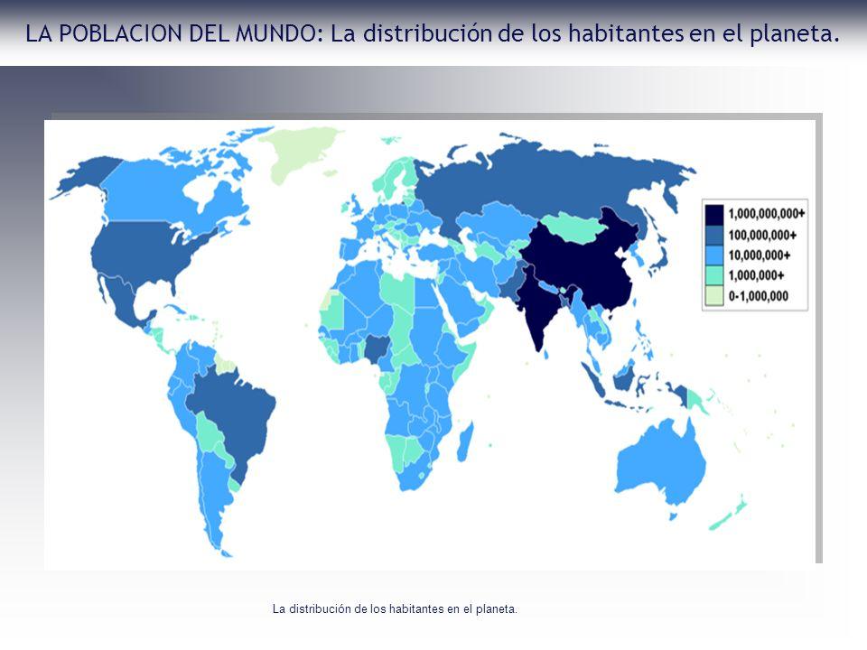 La distribución de los habitantes en el planeta.