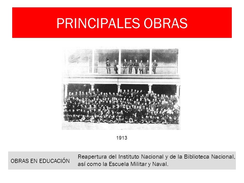 PRINCIPALES OBRAS OBRAS EN EDUCACIÓN
