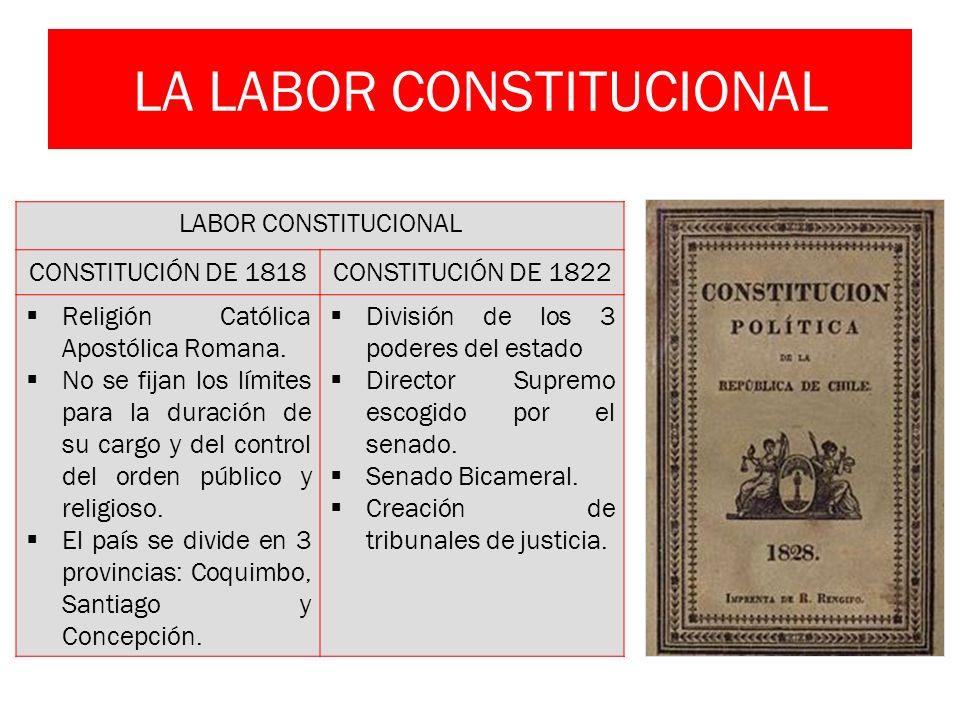 LA LABOR CONSTITUCIONAL