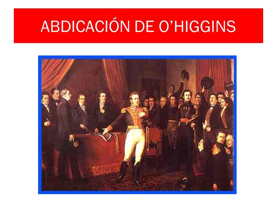 ABDICACIÓN DE O'HIGGINS
