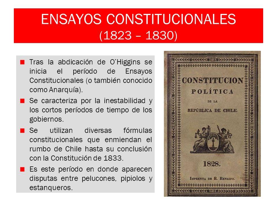 ENSAYOS CONSTITUCIONALES (1823 – 1830)