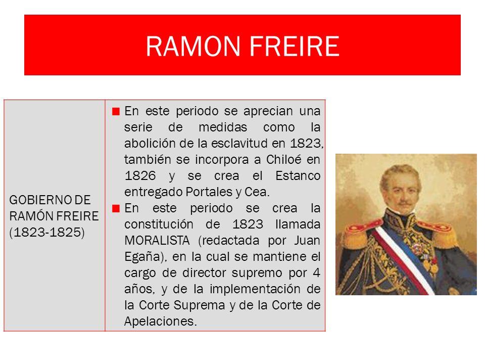 RAMON FREIRE GOBIERNO DE RAMÓN FREIRE
