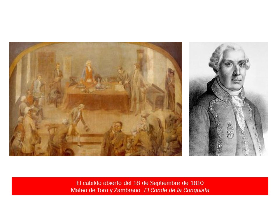 El cabildo abierto del 18 de Septiembre de 1810