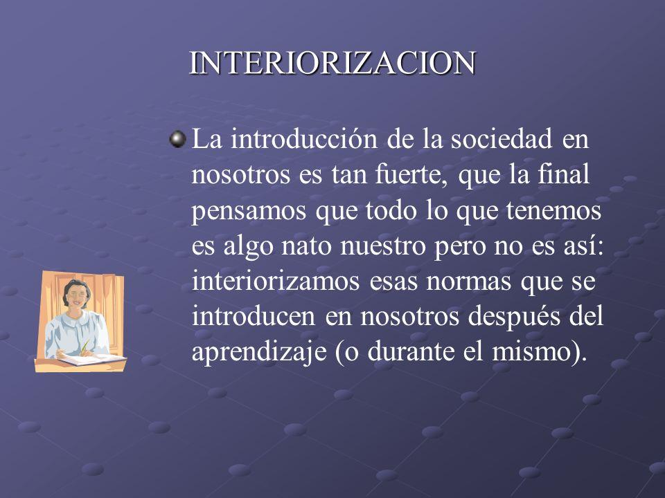 INTERIORIZACION