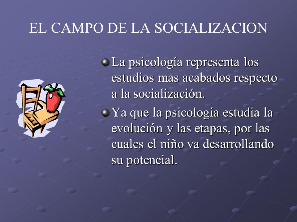 EL CAMPO DE LA SOCIALIZACION