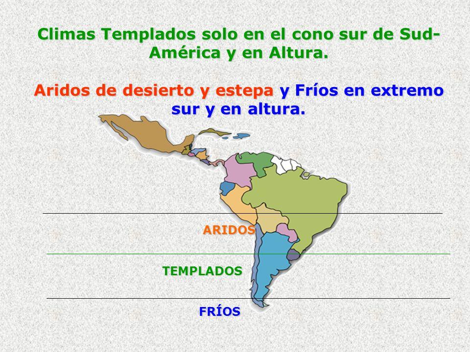 Climas Templados solo en el cono sur de Sud- América y en Altura