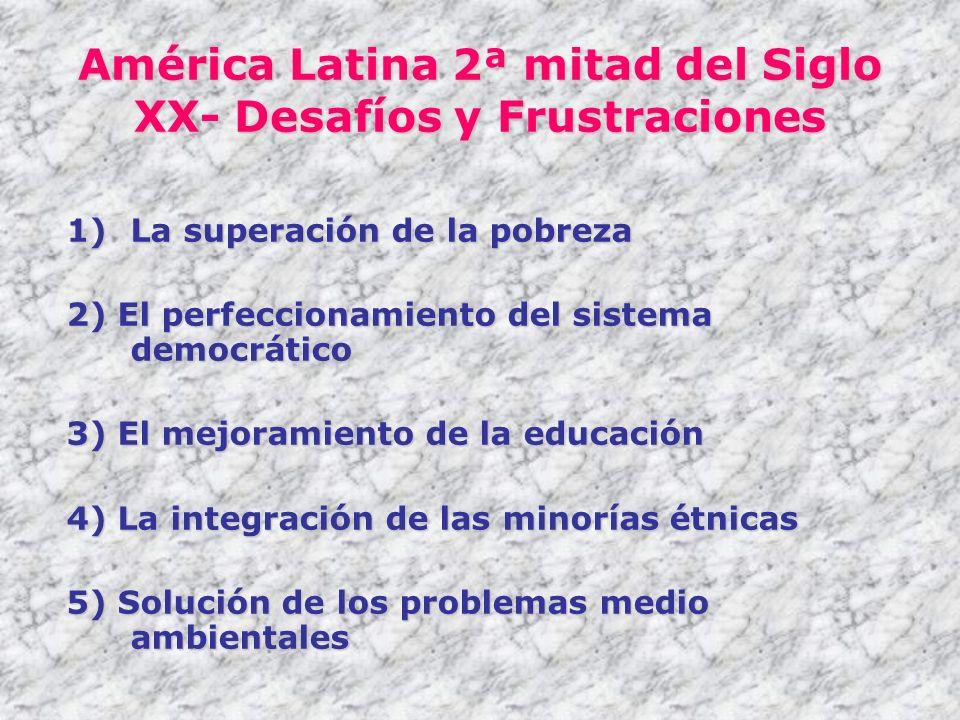 América Latina 2ª mitad del Siglo XX- Desafíos y Frustraciones