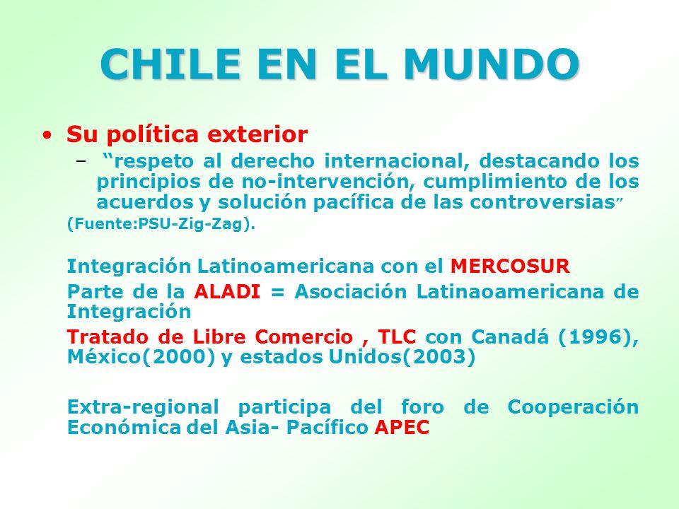 CHILE EN EL MUNDO Su política exterior