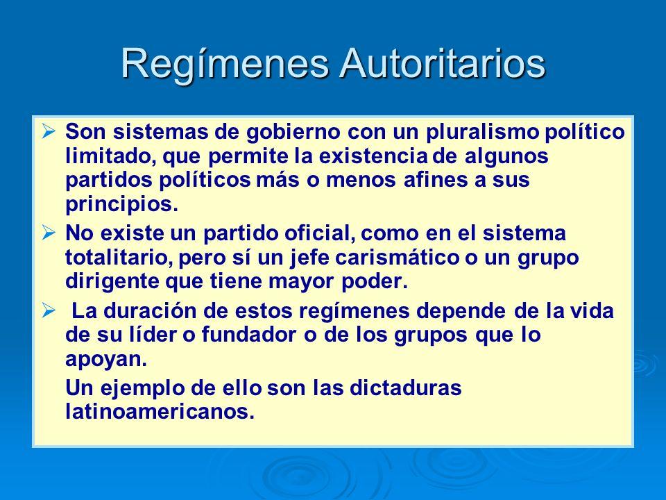 Regímenes Autoritarios
