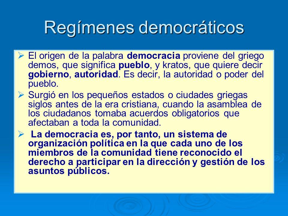 Regímenes democráticos