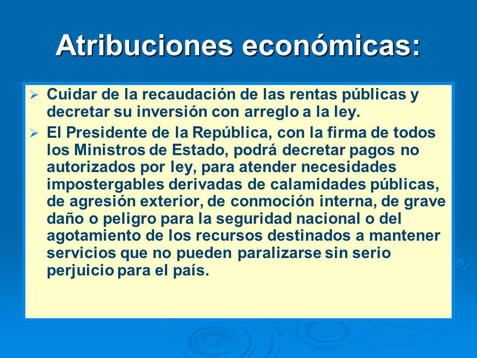 Atribuciones económicas:
