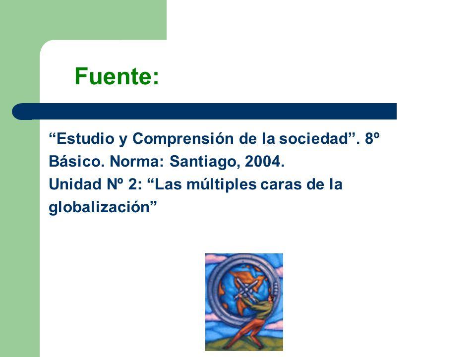 Fuente: Estudio y Comprensión de la sociedad . 8º