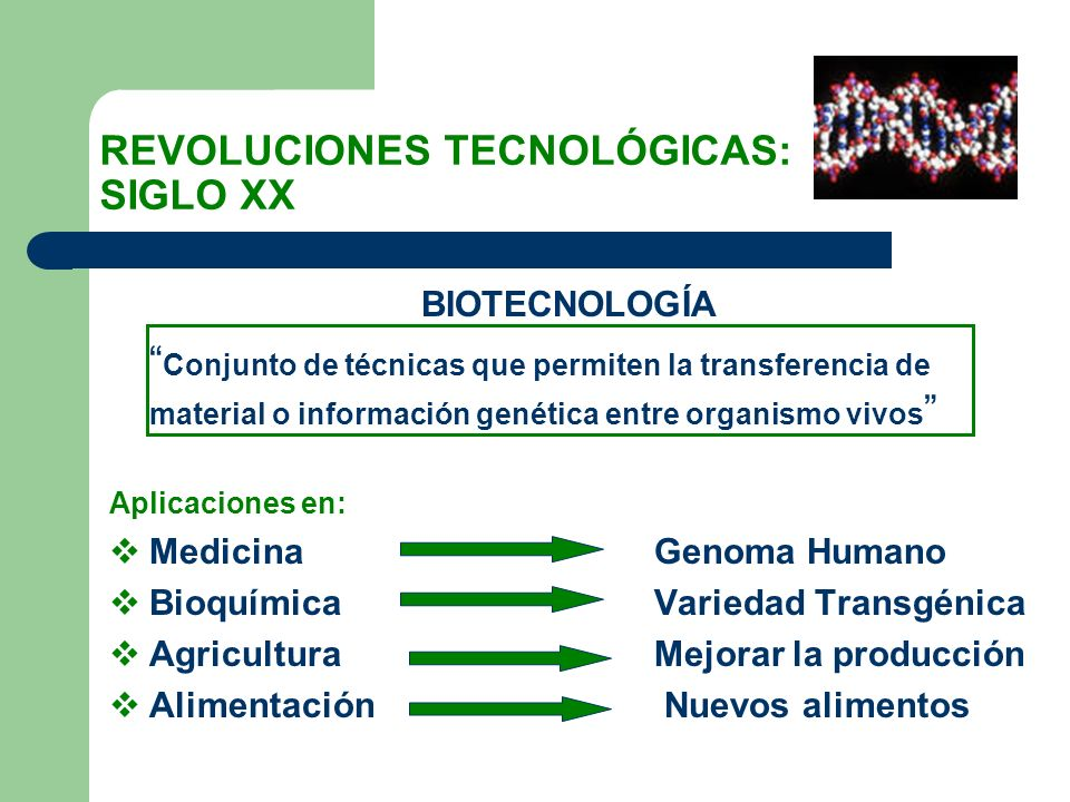 REVOLUCIONES TECNOLÓGICAS: SIGLO XX