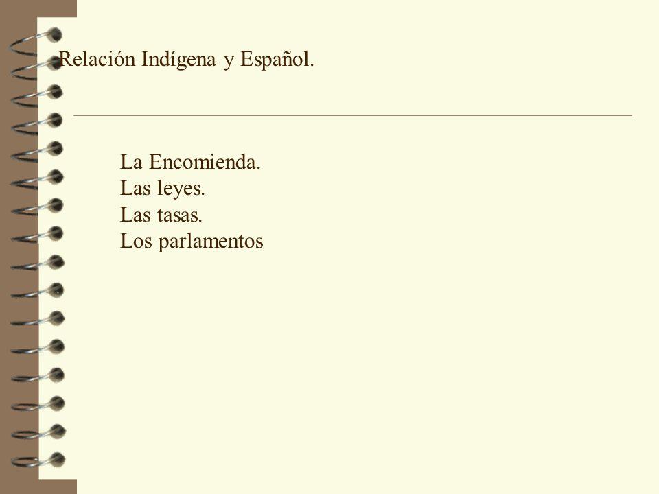 Relación Indígena y Español.