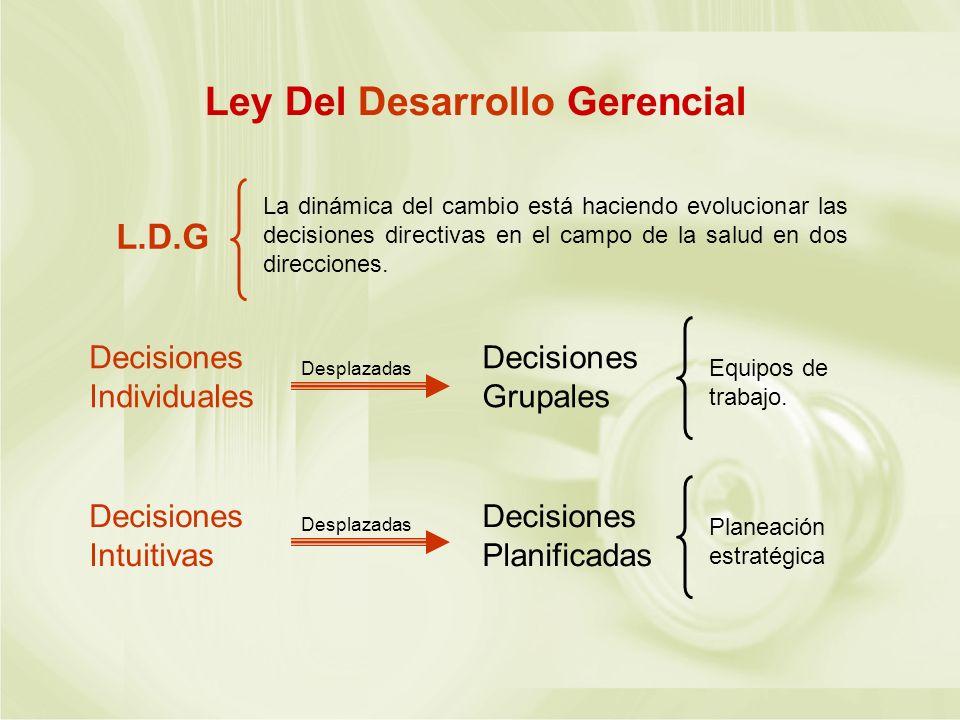 Ley Del Desarrollo Gerencial
