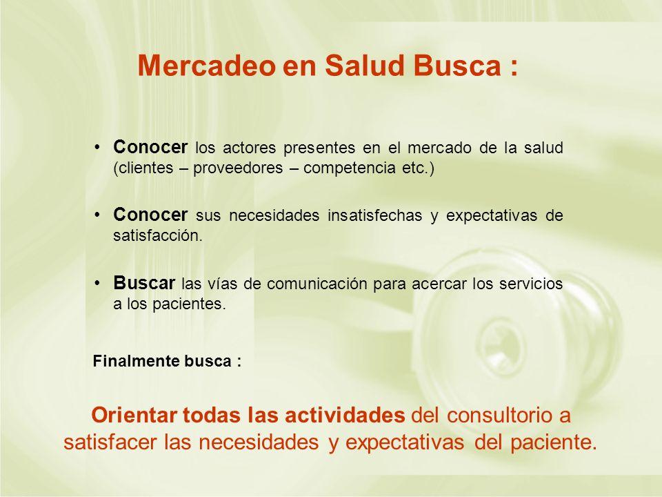 Mercadeo en Salud Busca :