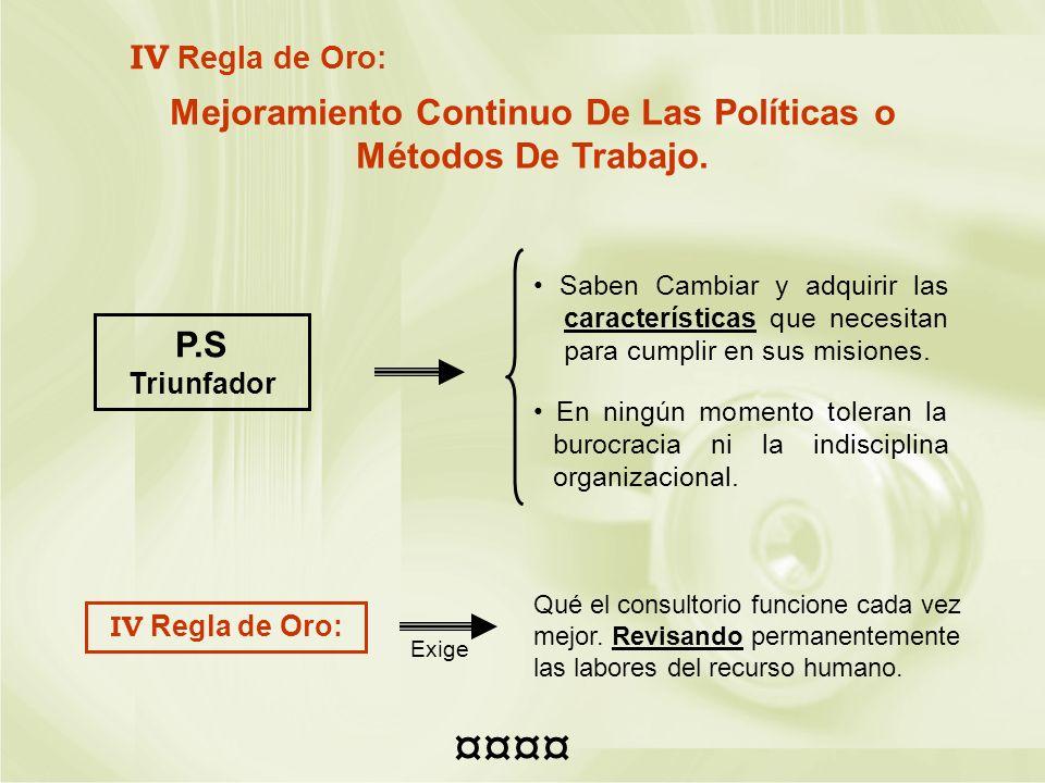 Mejoramiento Continuo De Las Políticas o Métodos De Trabajo.