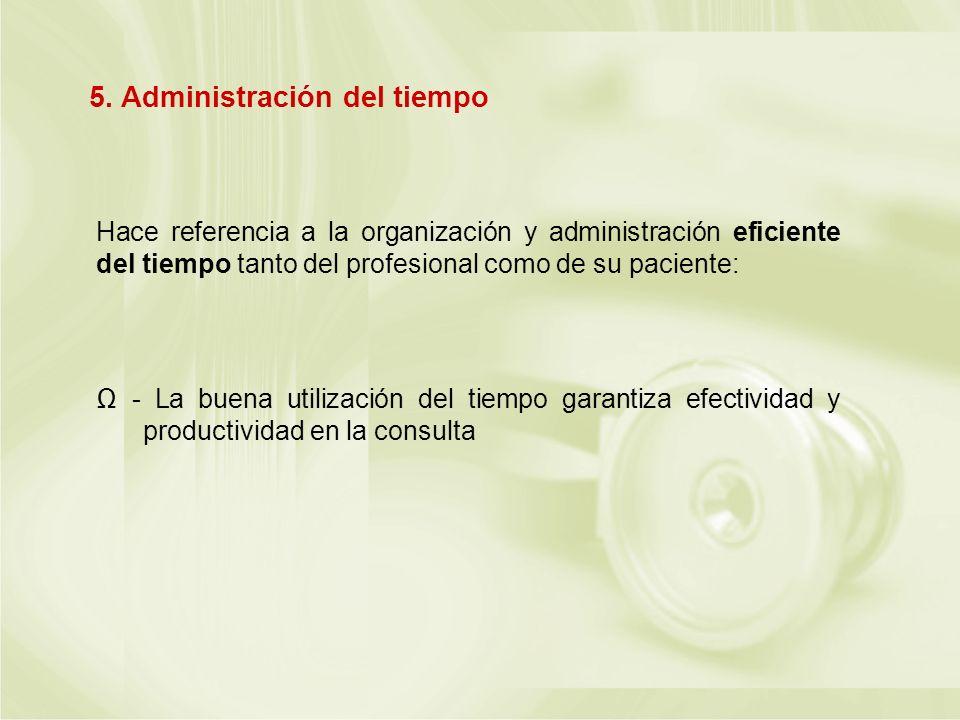 5. Administración del tiempo