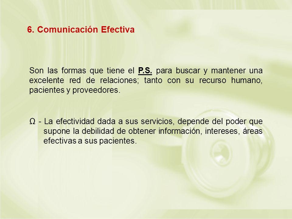 6. Comunicación Efectiva