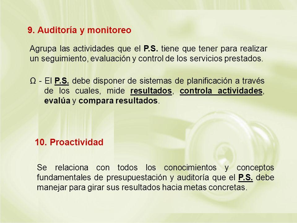 9. Auditoría y monitoreo 10. Proactividad