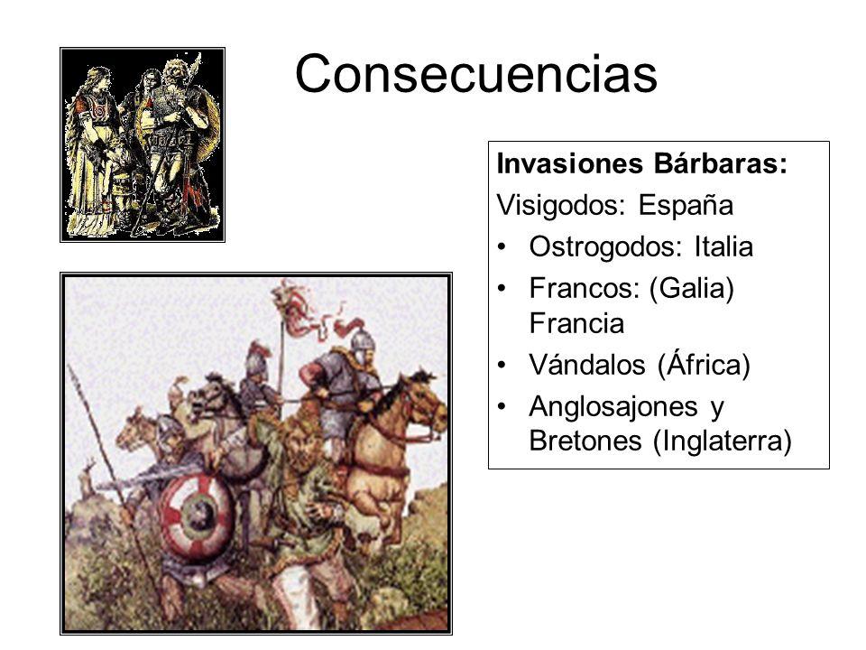Consecuencias Invasiones Bárbaras: Visigodos: España