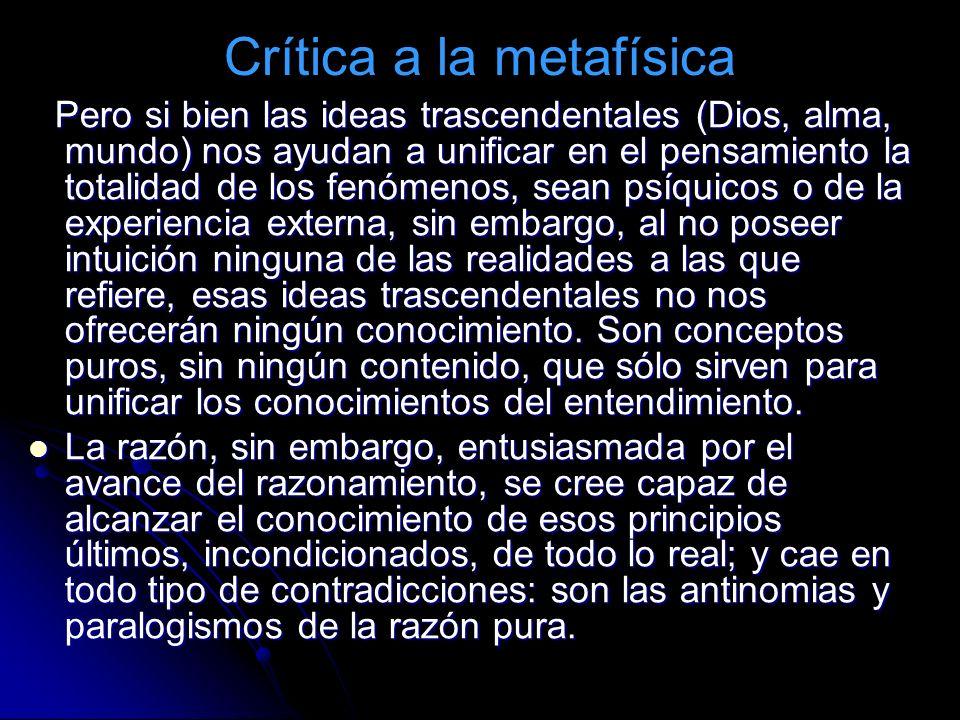 Crítica a la metafísica