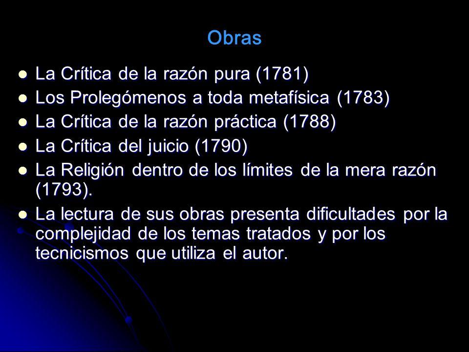 Obras La Crítica de la razón pura (1781)