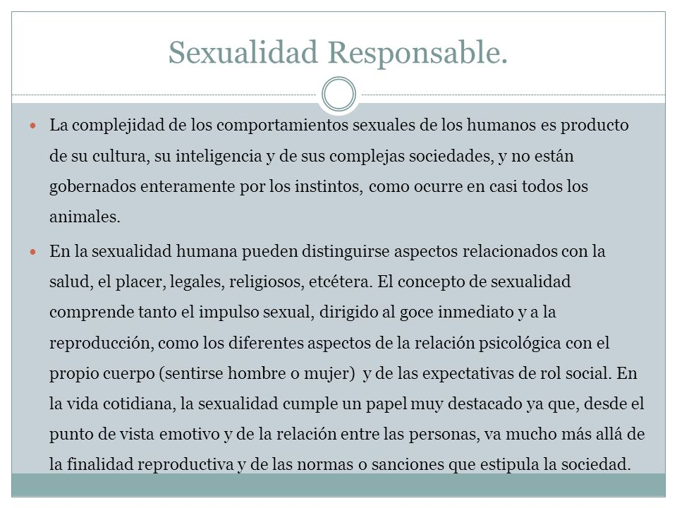 Sexualidad Responsable.