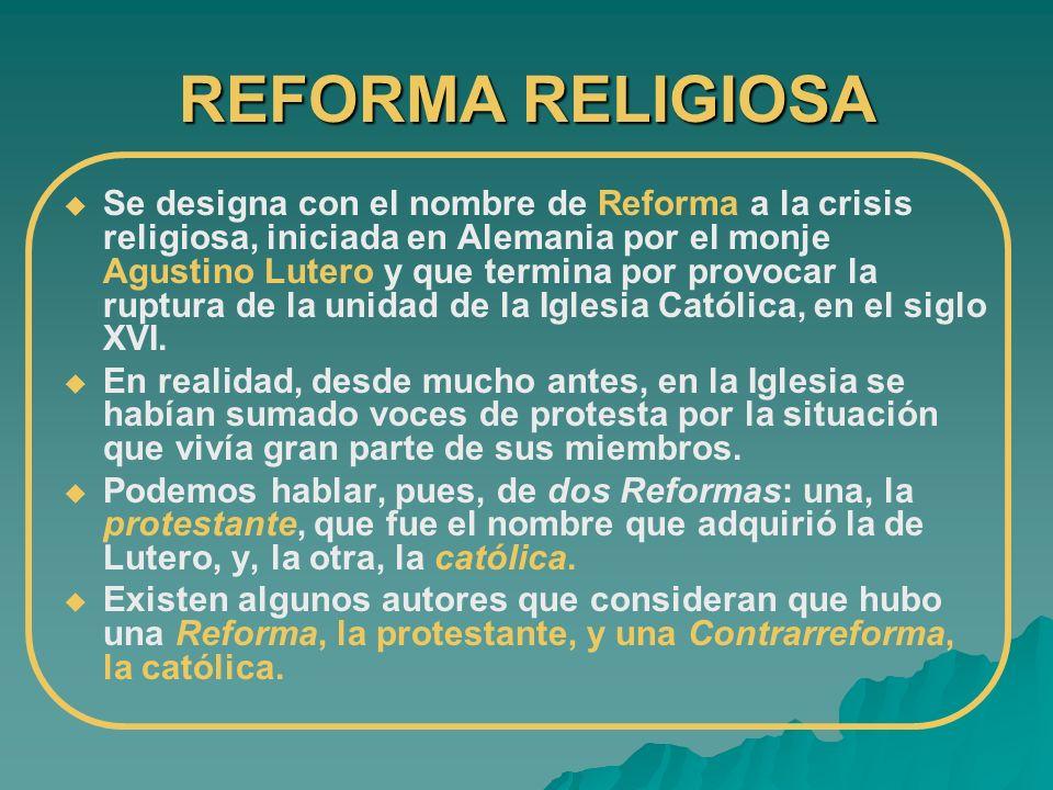 REFORMA RELIGIOSA