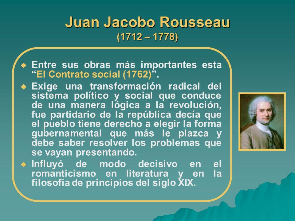 Juan Jacobo Rousseau (1712 – 1778)