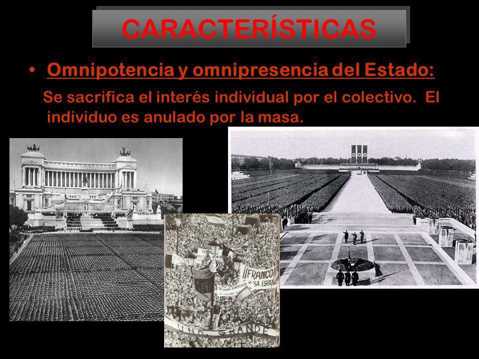 CARACTERÍSTICAS Omnipotencia y omnipresencia del Estado: