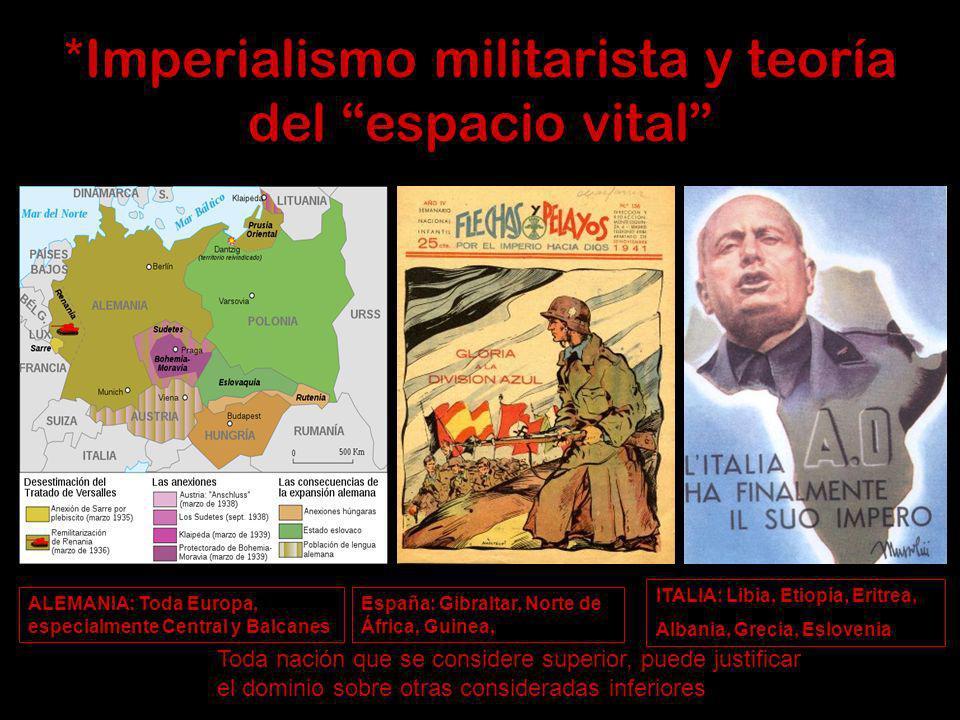 *Imperialismo militarista y teoría del espacio vital