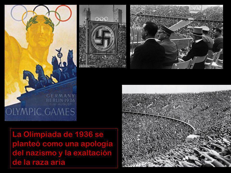 La Olimpiada de 1936 se planteó como una apología del nazismo y la exaltación de la raza aria