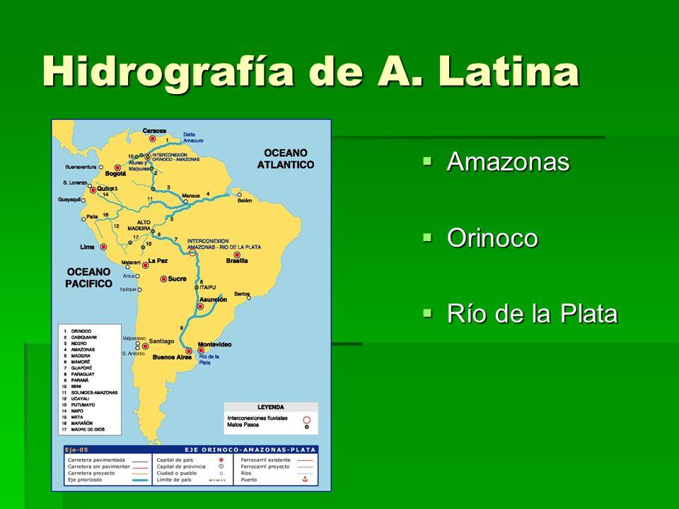 Hidrografía de A. Latina